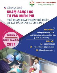 Thư mời tham gia chương trình Khám sàng lọc Nhi năm 2017